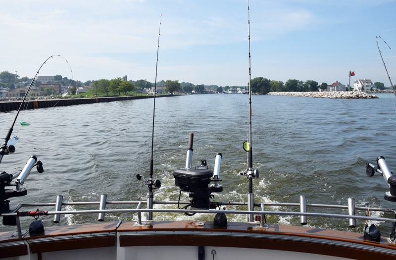 Book your fishing trip fishing guide kewaunee wi for Salmon fishing wisconsin