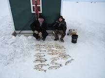 ice shack rental lake michigan