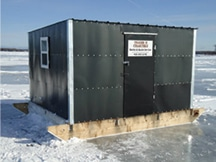 ice shack rental lake michigan