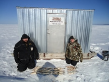 ice fishing service shack rental