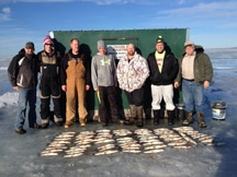 ice fishing service shack rental